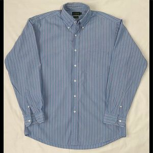 J. Crew Striped Causal Button Down 15 1/2-3/4 M
